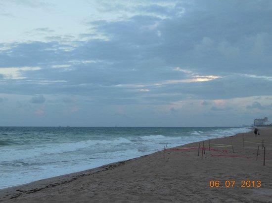 Surf Rider Resort: evening at the beach