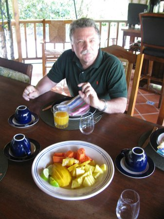 Hacienda Pomarrosa: fresh local juice each morning