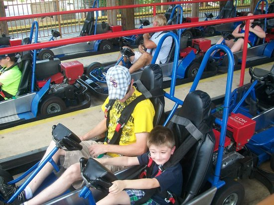 The Track Family Fun Parks : brother and nephew on the the woody