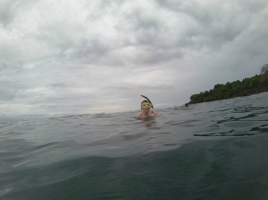 Explora Ya Eco-Tours & Adventure Travel Day Trips: Youngest on his first salt water swim
