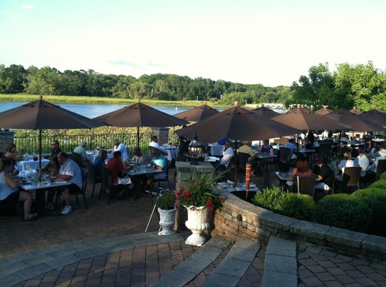 Friends Enjoying A Delicious Meal On Carluccis Waterfronts Patio