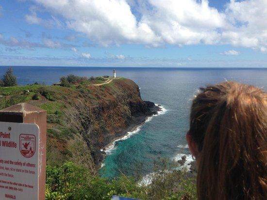 Kilauea Point National Wildlife Refuge: clear view of Kilauea Pnt.