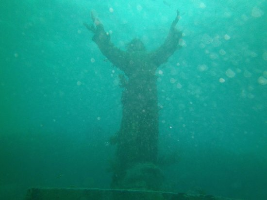 Silent World Dive Center : Christ of the Abyss with Tropical Storm Andrea approaching