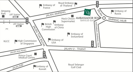 Ambassador Row Hotel Suites by Lanson Place : Location Map