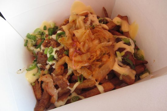Banh Mi Boys: Kimchi Fries with Pulled Pork