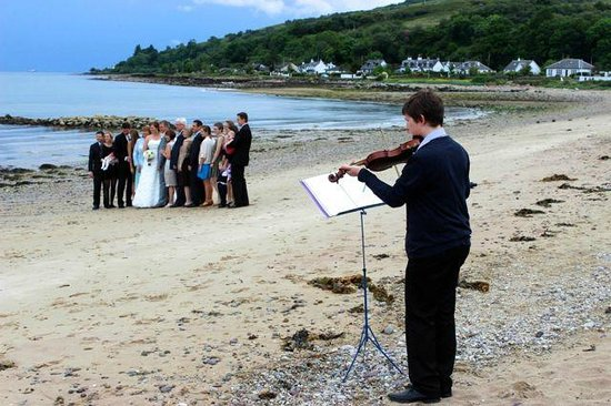 Darven Cottage B&B Sannox, Isle of Arran: Our wedding on the beach at Darven