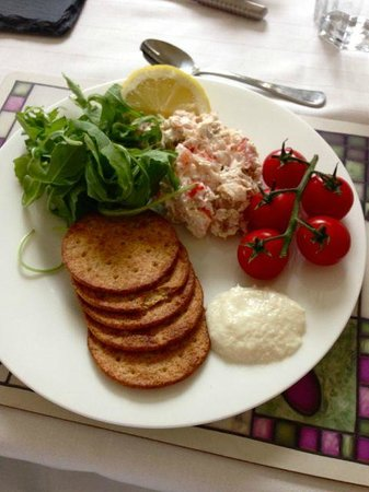 Darven Cottage B&B Sannox, Isle of Arran: One of David's many delicious meals