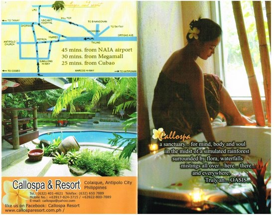 Callospa & Resort: Spa brochure