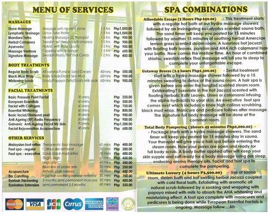 Callospa & Resort: Spa brochure