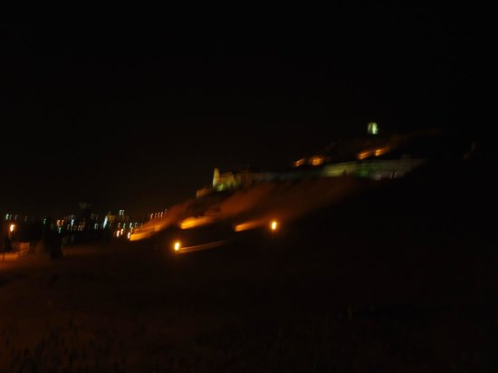 Bet el Kerem: view from rooftop/dining area at night - amazing!