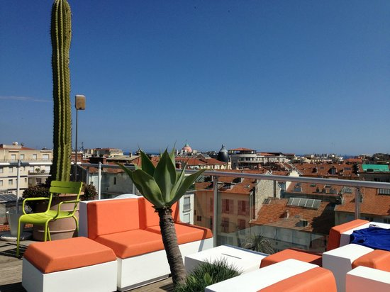 Spity Hotel Nice: Roof Top terrace view