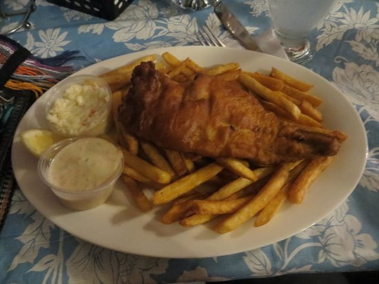 Mo's Grill & Diningroom: Haddock fish and chips