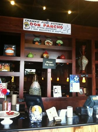 Don Pancho Mexican Restaurant Check Out Counter