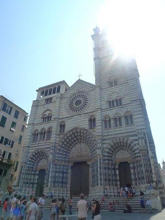 Cattedrale di San Lorenzo - Duomo di Genova : La façade