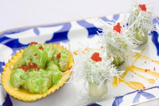 Uzbekistan : Chinese shrimp with wasabi