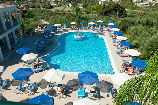 Zante Star: Pool/View from room