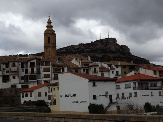 Forcall, Spain: foto entrando al pueblo