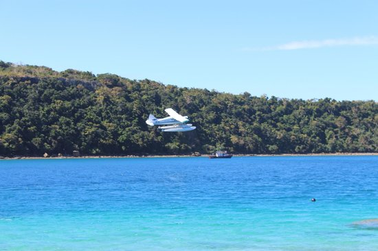 Paradise Cove Resort: Seaplane taking off