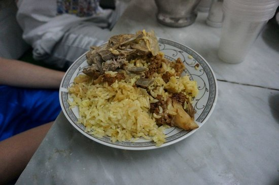 ABU TAHER RESTAURANT: lamb and rice