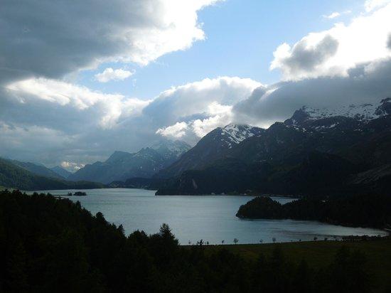 Hotel Waldhaus : Blick auf den Silsersee