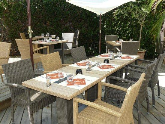 La Villa Angevine: terrasse