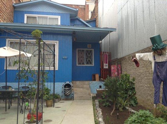 Hostal Jacaranda: Their lovely garden and patio