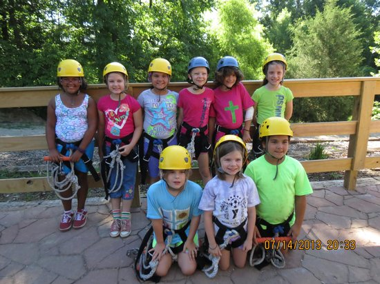 Rawhide Ranch: Getting ready to zip Line!!