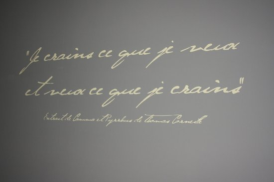 Hotel-Restaurant La Chaine d'Or : The writing's on the wall