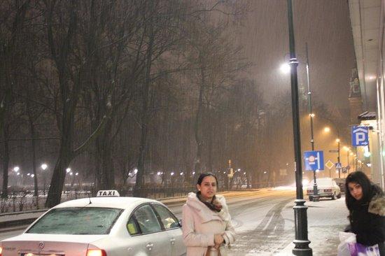 Radisson Blu Hotel Kraków: Right outside the hotel