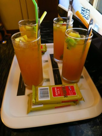 Hotel Dion : welcome drink