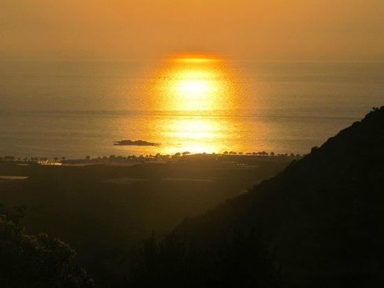 Falasarna Villas: sunset viw