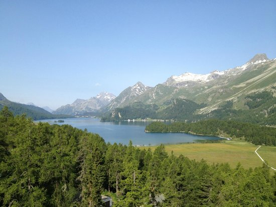 Hotel Waldhaus : Aussicht auf den Silser See