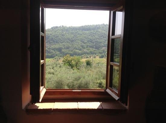 Lucolena, Italy: utsikt från sovrumsfönster