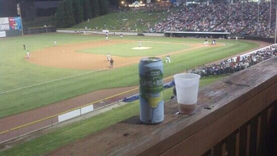 BB&T Ballpark: enjoying a nice drink during the game on the Deck...