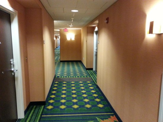 Fairfield Inn & Suites by Marriott Harrisburg West: Hallway to our room on upper floor