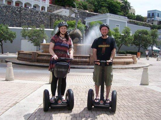 Segway Tours of Puerto Rico: Enjoying our Segway tour of Old San Juan.