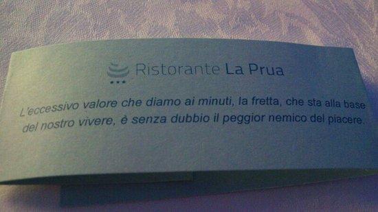 Restaurant La Prua: frase del giorno