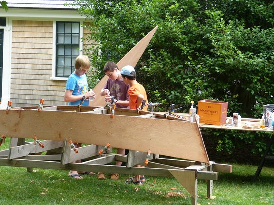 Atwood House & Museum : Building a Skiff at the Atwood House