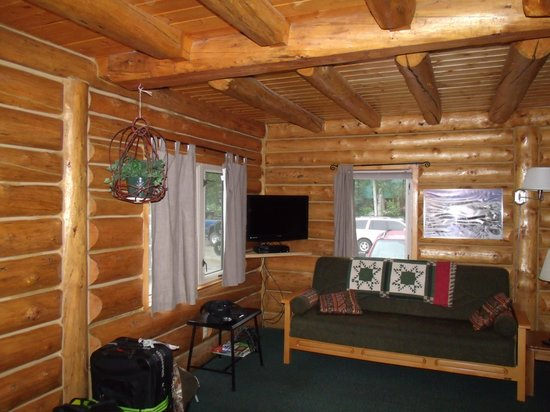 Talkeetna Cabins: Interior of our cabin