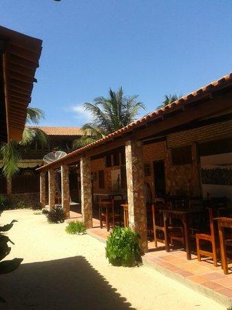 Pousada Ponta da Pedra: Área de café da amnahã