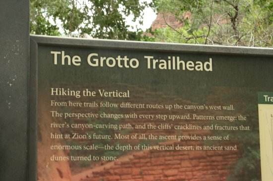 Angel's Landing: You get off the shuttle at the Grotto Trailhead.