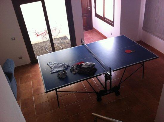Villas Las Arecas Club: Basement L couch to left with plasma tv