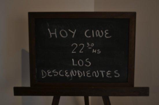 Hosteria Patagon: cartelera del cine jaja