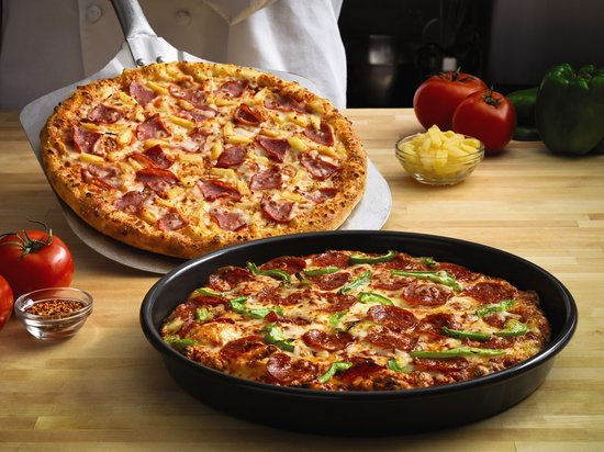 Pan And Hand Tossed Pizzas Picture Of Domino S Pizza