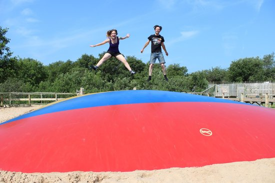 Curraghs Wildlife Park: The Jumping Pillow (not just for kids!)