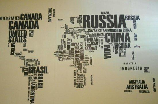 Hello Backpackers: 很特別的世界地圖
