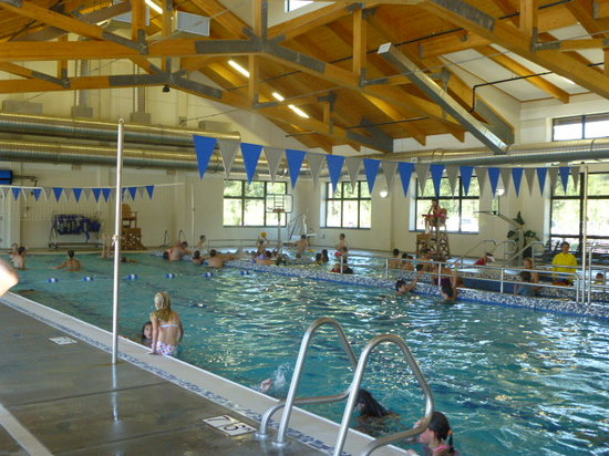 Sunriver Homeowners Aquatic & Recreation Center: 2 pools inside - deeper for diving (no board), lap swim.  There was a water volleyball and baske