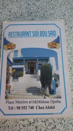 Sidi Bou Said : La carte avec adresse et numéro