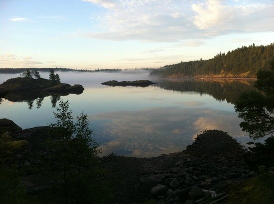 Gowlland Harbour Resort: Morning Mists view from Arbutus House