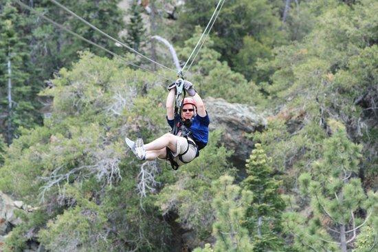 Big Pines Zipline Tours: Old folks can zip, too.